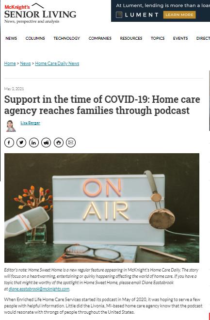 ELHCS Quality Caregiving Amid the COVID-19 Pandemic